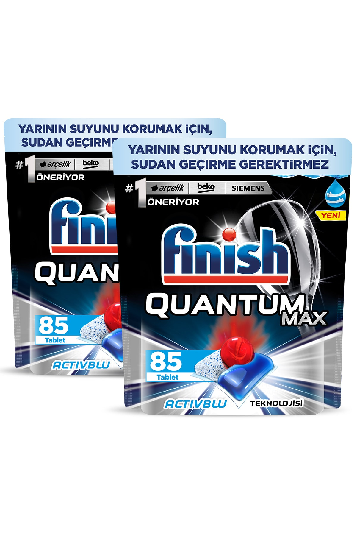 Finish Quantum Max 170 Kapsül Bulaşık Makinesi Deterjanı (85x2) 2
