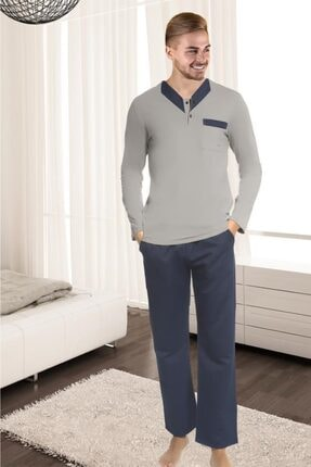 Doremi Erkek Gri Pijama Takımı