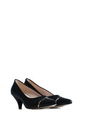 Pierre Cardin Kadın Siyah Günlük Topuklu Ayakkabı 45341