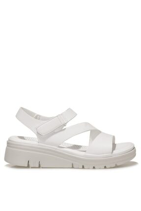 İnci Cadalılla 1fx Beyaz Kadın Kalın Tabanlı Sandalet