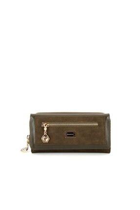 Silver Polo Haki Iki Bölmeli Kadın Cüzdan & Kartlık Sp846