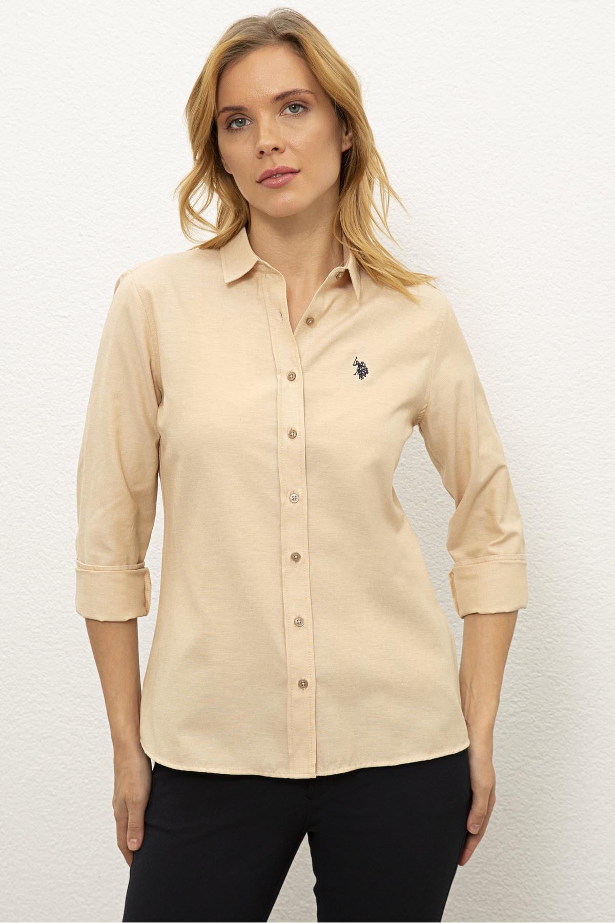 U.S. Polo Assn. Kahverengı Kadın Dokuma Gömlek G082Gl004.000.1261820 1