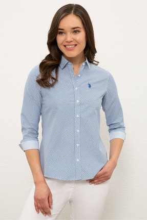 U.S. Polo Assn. Mavı Kadın Gömlek G082SZ004.000.1269088