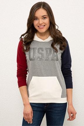 U.S. Polo Assn. Grı Melanj Kadın Sweatshirt G082SZ082.000.1210449