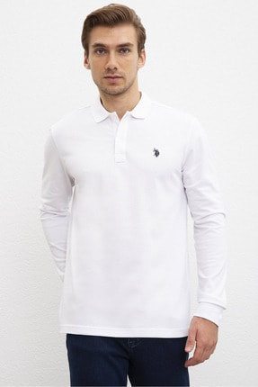 U.S. Polo Assn. Beyaz Erkek Sweatshirt