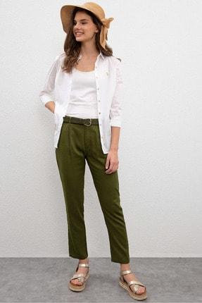 U.S. Polo Assn. Yesil Kadın Dokuma Spor Pantolon