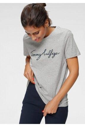 Tommy Hilfiger Kadın gri T-shirt