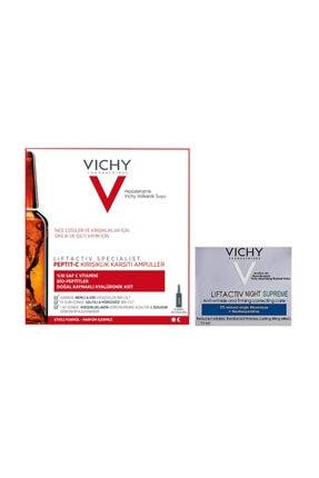 Vichy Peptıt-c Kırışıklık Karşıtı 10 Amp +  Lıftactıve Nıght Supreme 15 Ml