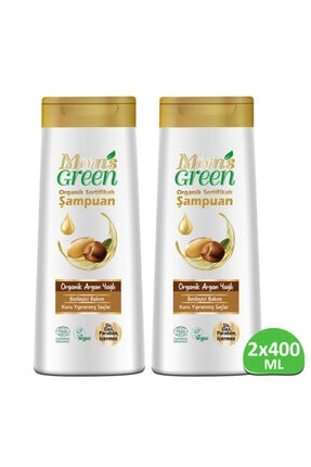 Mom's Green 2'li Set Organik Argan Yağlı Şampuan 400 +400 Ml