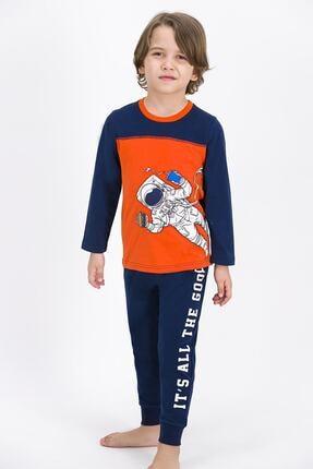 ROLY POLY Erkek Çocuk Lacivert Astronot Pijama Takımı