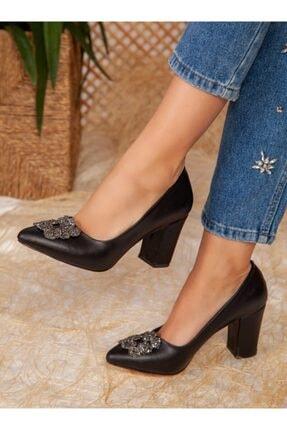 ayakkabıhavuzu Kadın Siyah Topuklu Ayakkabı