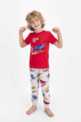 ROLY POLY Erkek Kırmızı Çocuk Kısa Kol Pijama Takımı