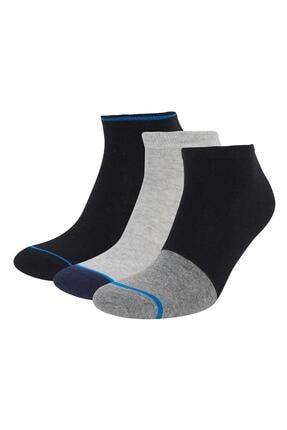 DeFacto Erkek Kısa Çorap Seti 3'Lü