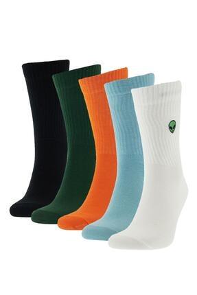 DeFacto Desenli Kutulu 5'li Uzun Çorap