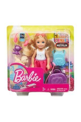 Barbie Aksesuarlı Chelsea Bebek Seyahatte FWV20