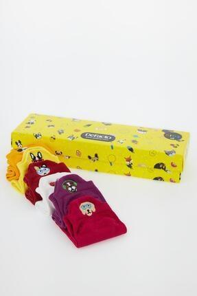 DeFacto Kız Çocuk Kutulu 6'lı Patik Çorap