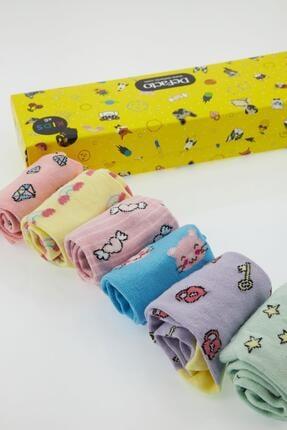 DeFacto Kız Çocuk Kutulu Desenli 5'li Soket Çorap