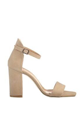SOHO Ten Süet Kadın Klasik Topuklu Ayakkabı 15976