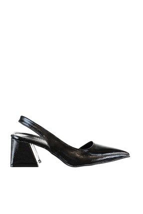 SOHO Siyah Mat Rugan Kadın Klasik Topuklu Ayakkabı 16142