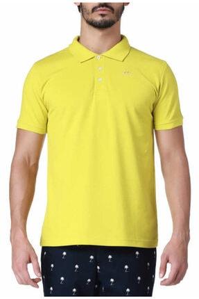 Kappa Erkek Sarı Slim Fit Polo Yaka T-shirt