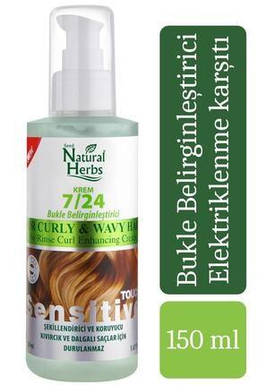 Natural Herbs 7/24 Bukle Belirginleştirci Durulanmayan Saç Kremi 150 Ml 8681137004226