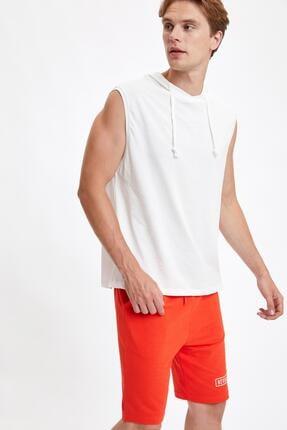 DeFacto Slim Fit Basic Kapüşonlu Kolsuz Tişört