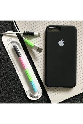 SUPPO Iphone 7 Plus Ve 8 Plus Uyumlu, Logolu Lansman Kılıf Kablo Koruyucu