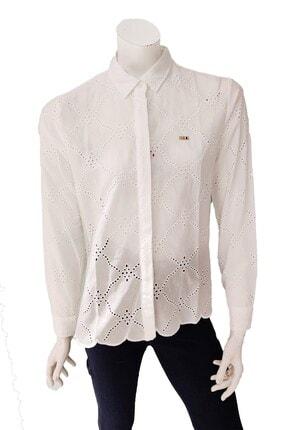 U.S. Polo Assn. Kadın Ekru Polo Gömlek 979985