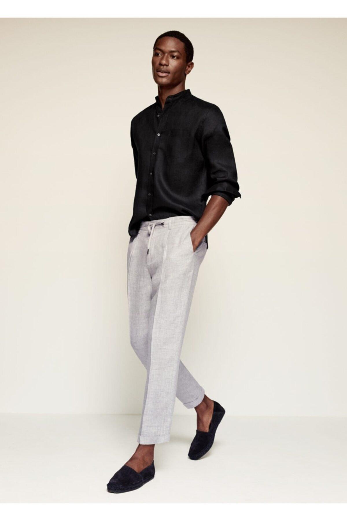 MANGO Man Pilili Keten Pantolon 2