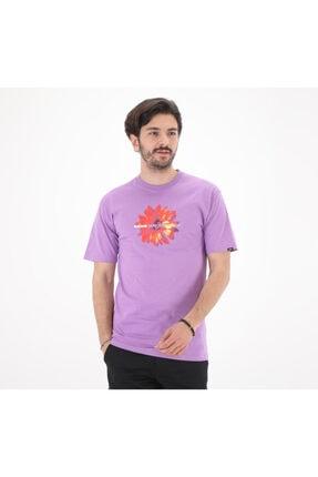 Vans 0a54cfz711-r Bloomıng Ss Erkek T-shirt Mor