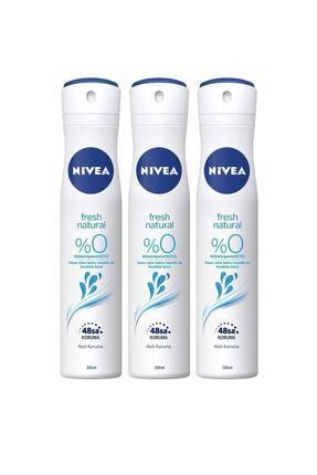 Nivea Nıvea Fresh Natural Kadın Sprey 200 ml X3