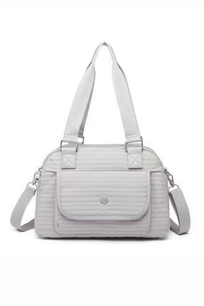 SMART BAGS Smbyb1122-2078 Gri Kadın Omuz Çantası