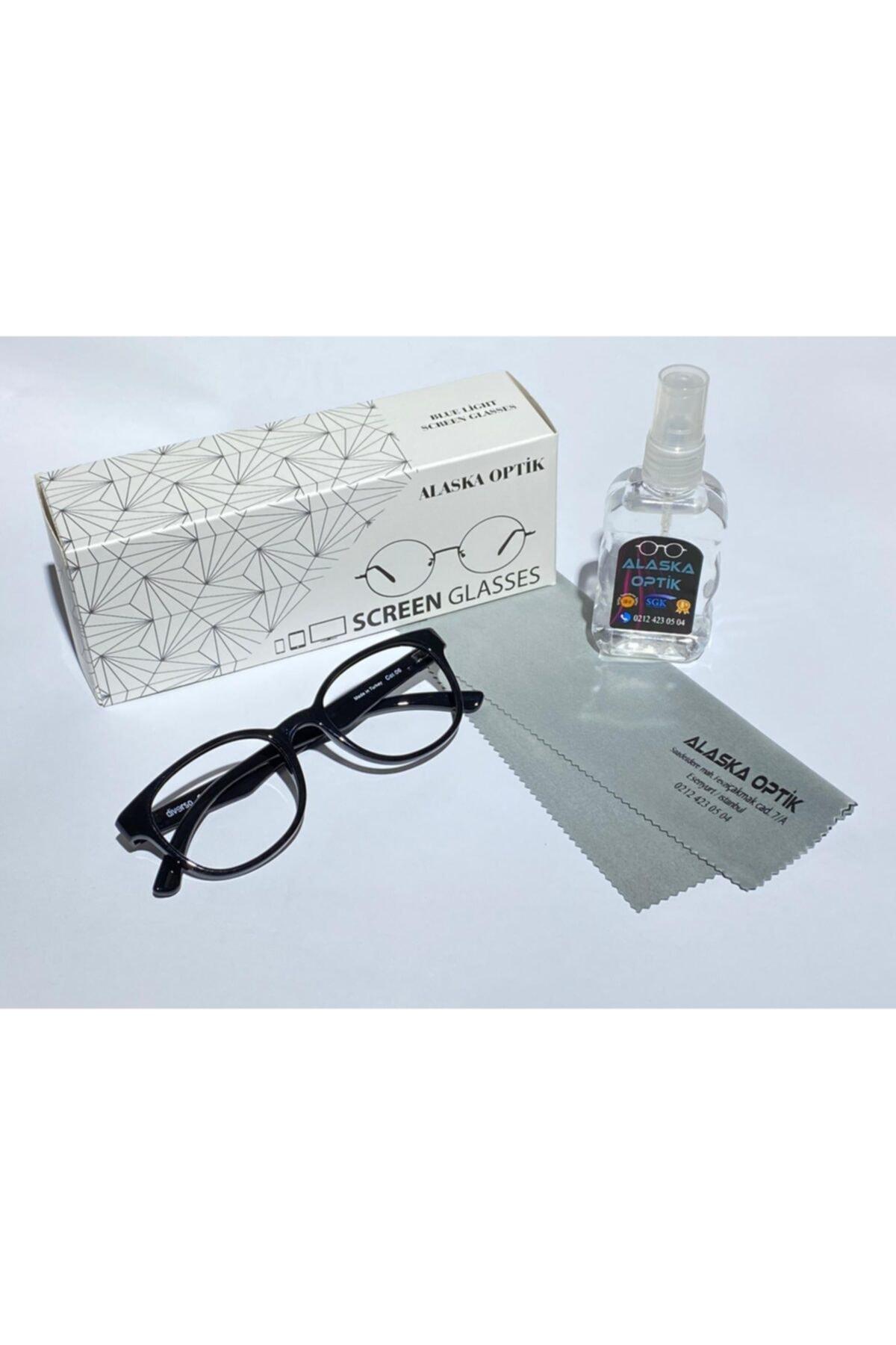 AlaskaEyewear Blue, Bilgisayar Telefon, Mavi Işık Korumalı Ekran Gözlüğü Büyük Boy Uv400, 1