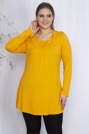 Şans Kadın Sarı Yaka Detaylı Tunik 65N23588
