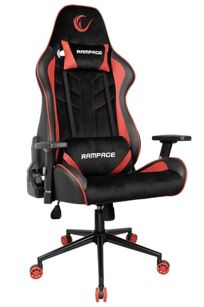 Rampage Kl-r9 Alcantara Series Premium Terletmez Kumaş Kırmızı / Siyah Gaming Oyuncu Koltuğu