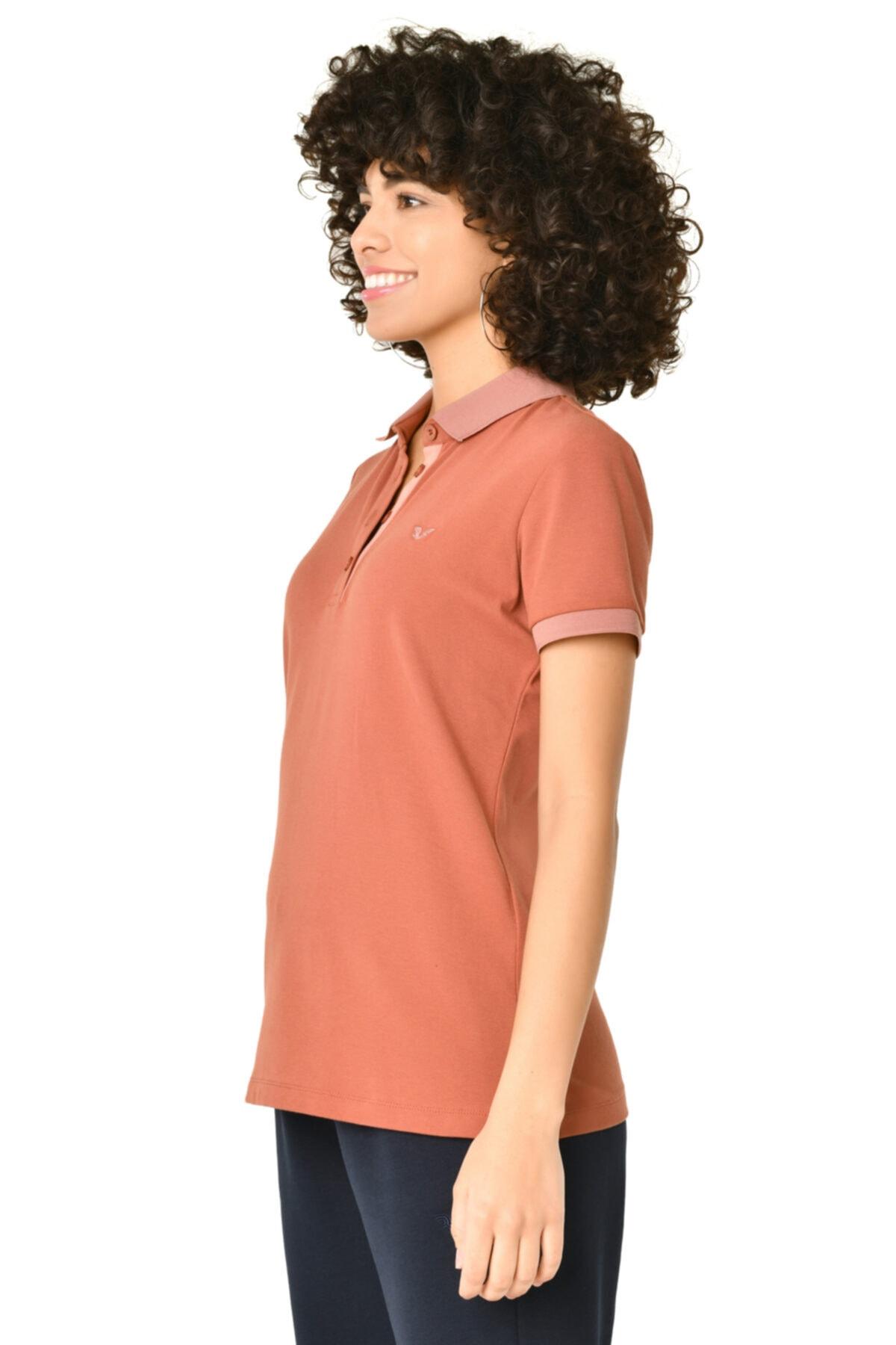 bilcee Kadın Toprak Polo Yaka Tshirt Hs-8719 2