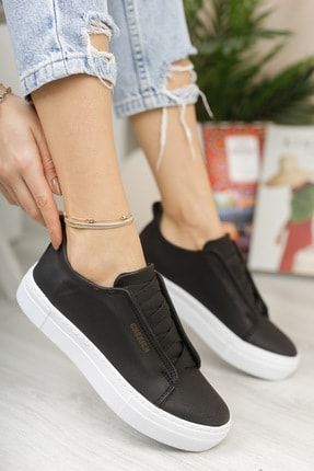 Chekich Ch013 Kadın Ayakkabı Siyah Beyaz