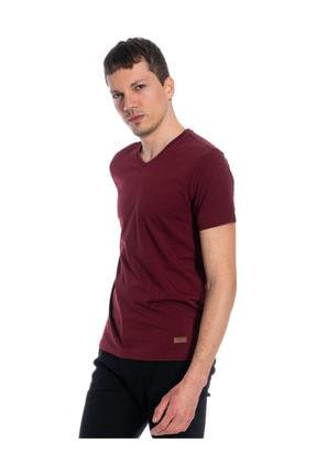 Slazenger Casper Erkek T-shirt Bordo