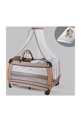 Baby Home 610 Weenle Tüllü 70x110 Bebek Oyun Parkı Yatak Park Beşik Sünger Yatak Hediye