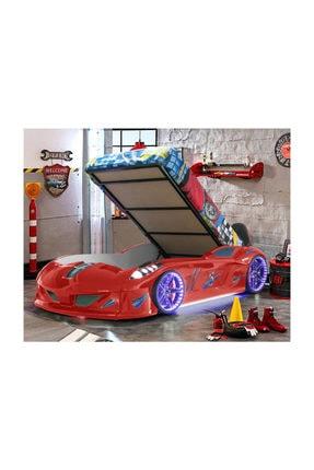 Setay Jaguar Bazalı Full Ledli Arabalı Yatak Kırmızı