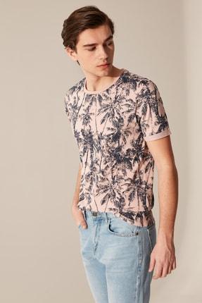 LC Waikiki Erkek Mat Pembe T-shirt 0S9660Z8