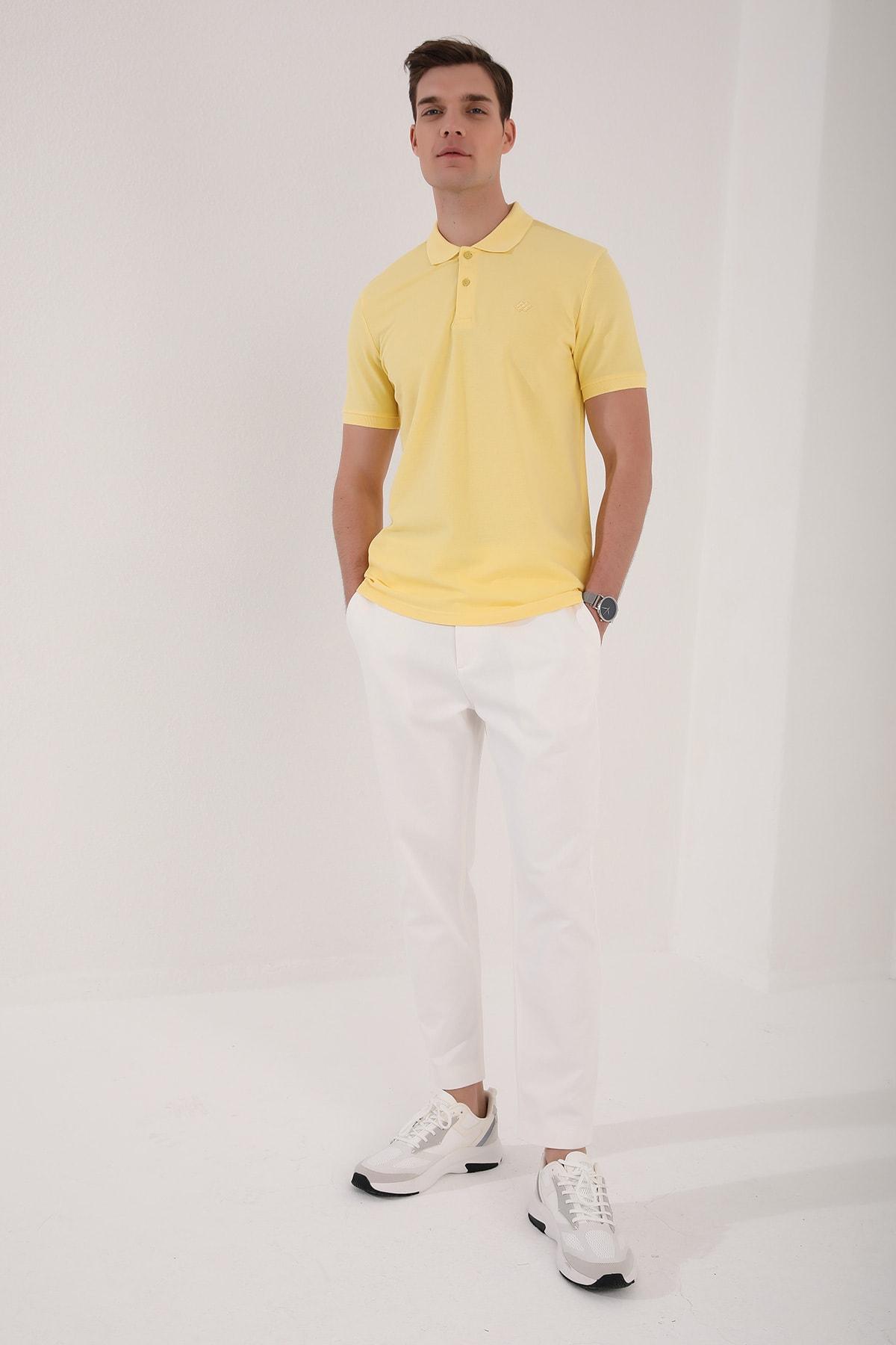 Tommy Life Polo Yaka Sarı Erkek Tshirt T08ER-87748 2