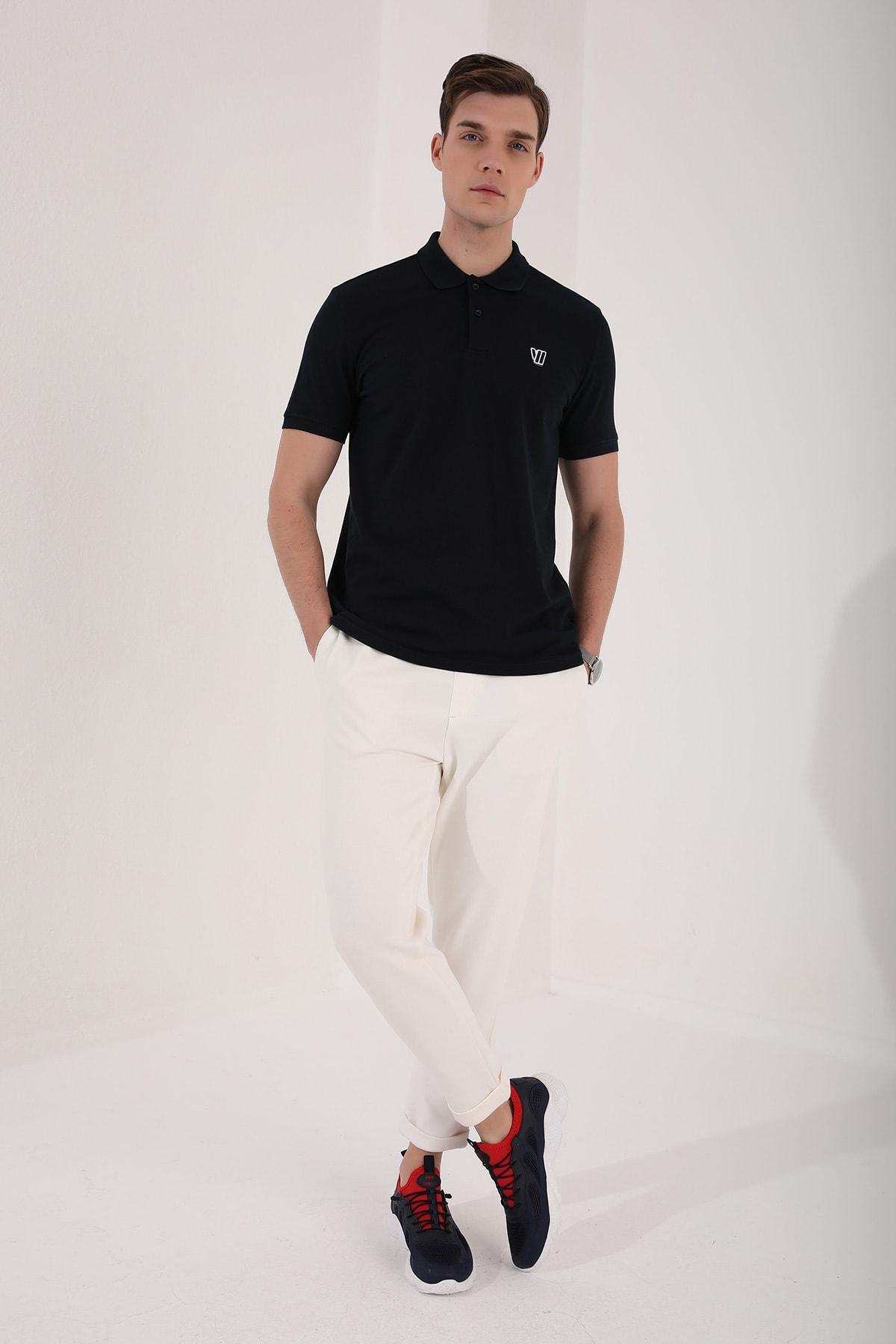 Tommy Life Klasik Polo Yaka Lacivert Erkek Tshirt T08ER-87768 2