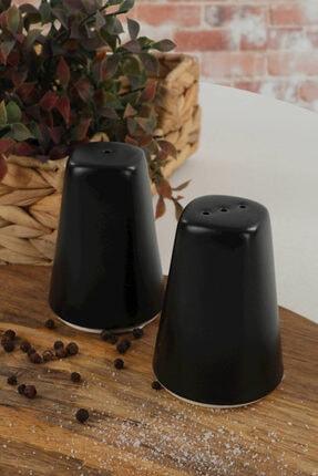 Keramika Mat Siyah Asostuzluk-biberlik 2 Parça