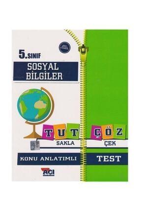 Açı Yayınları 5. Sınıf Sosyal Bilgiler Tut Sakla Çöz Çek Konu Anlatımlı Test