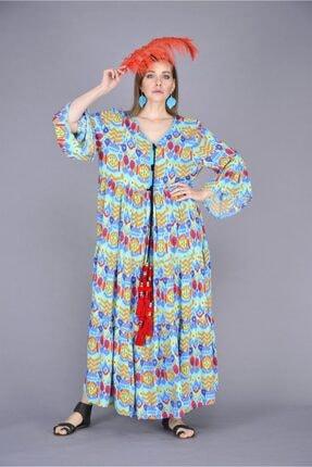Park Moda Kadın  Ponpon Ve Püskül Detay Volanlı Elbise