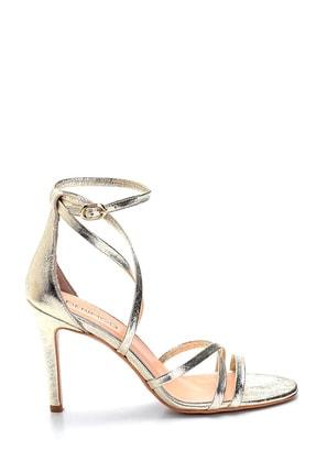 Derimod Kadın Deri Metalik Yüksek Topuklu Ayakkabı