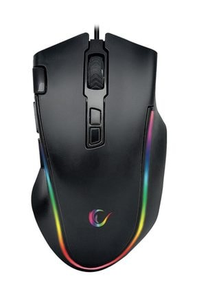 Rampage SMX-G72 GREEDY Usb Siyah 7200dpi Rgb Ledli Makrolu Gaming Oyuncu Mouse