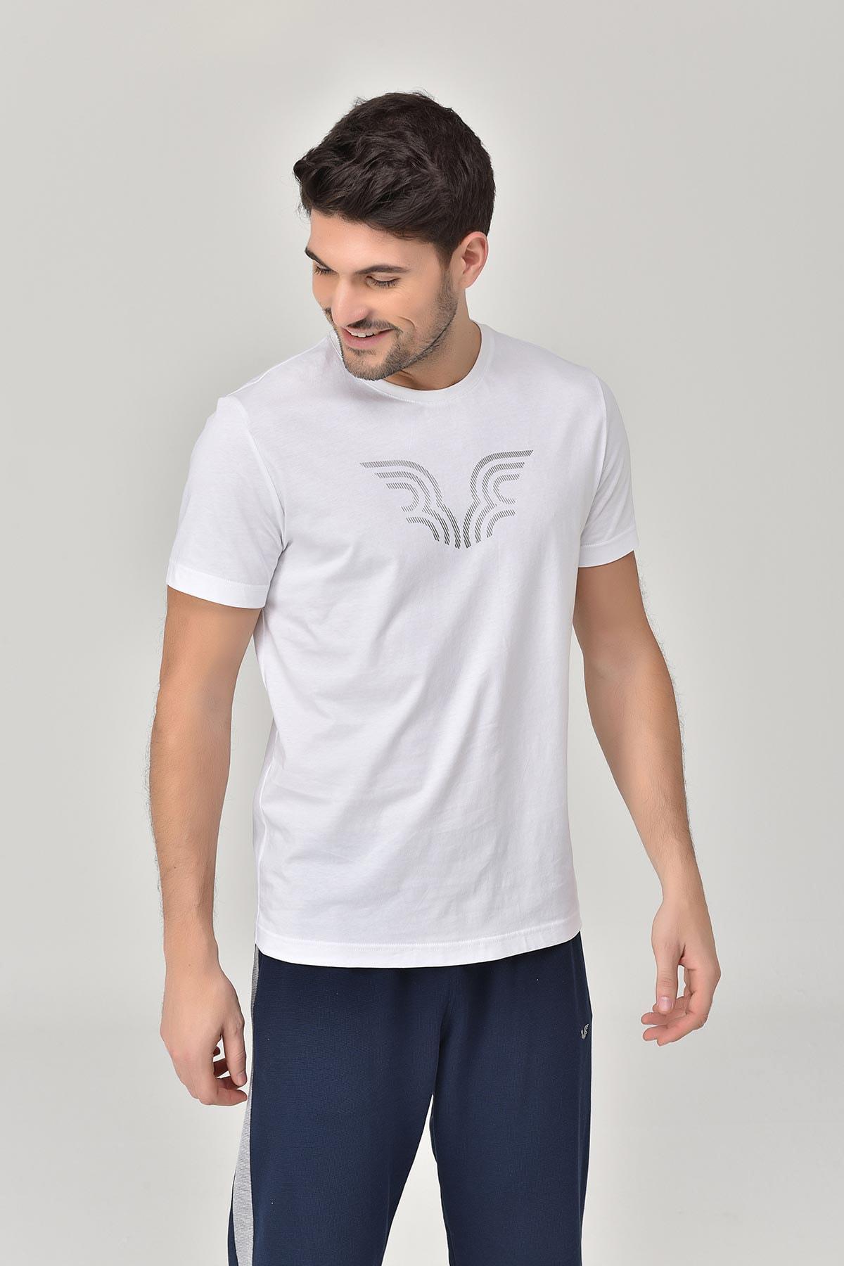 bilcee Beyaz Erkek T-shirt  GS-8814 1