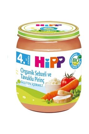 Hipp Organik Pirinçli Ve Tavuklu Sebze Püresi 125 gr